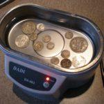nettoyage à ultrasons pièces de monnaie